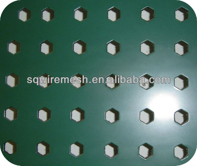PVC coated perforated metal sheet