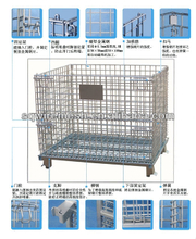 Foldable&Stackable Heavy Duty Wire Mesh Container