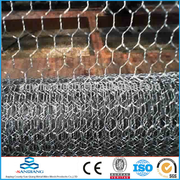 Hot -dipped before weaving Hexagnal Wire Mesh