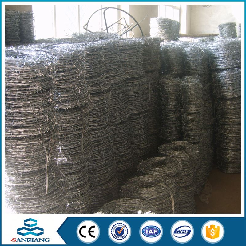 best quality galvanized 12#*14# barbed wire for safe