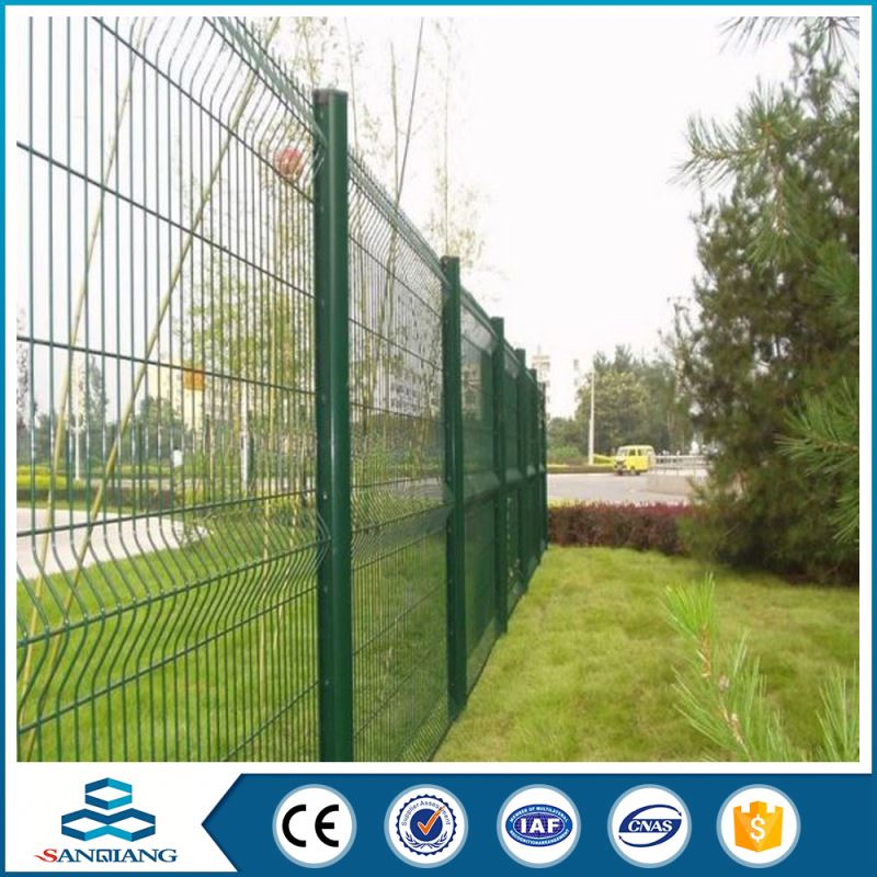american style pvc post and steel wire mesh rail fence