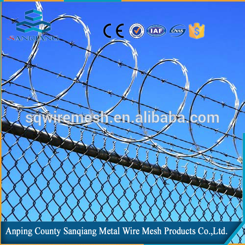 security fence concertina razor barbed wire/install razor wire supplier with appropriate price(anping sanqiang)