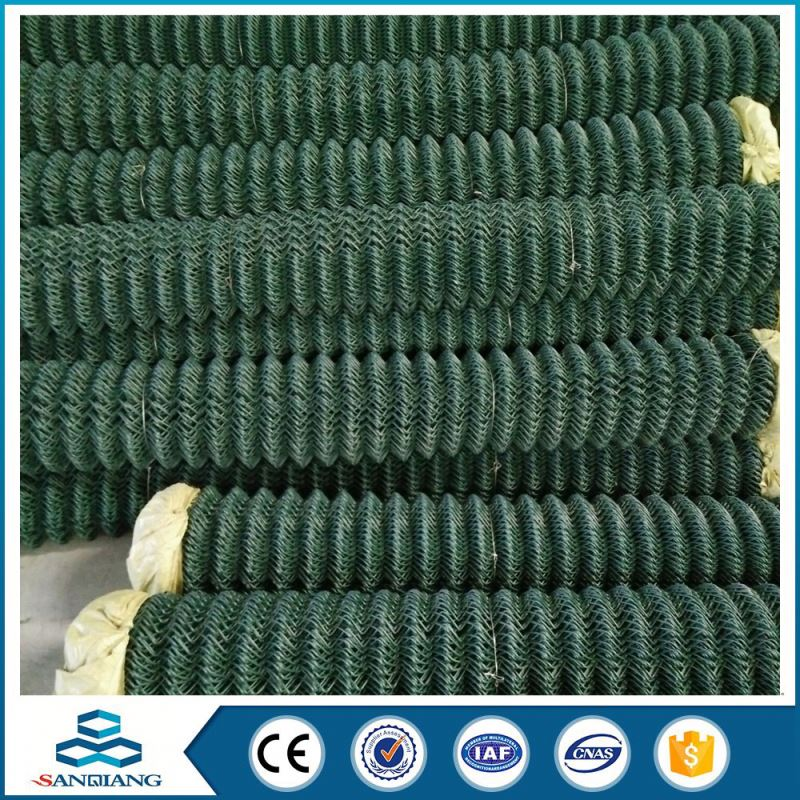 low carbon steel wire galvanized used chain link fence mesh