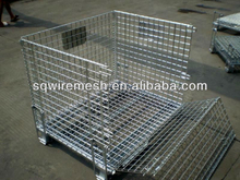 Steel foldable heavy duty wire mesh container
