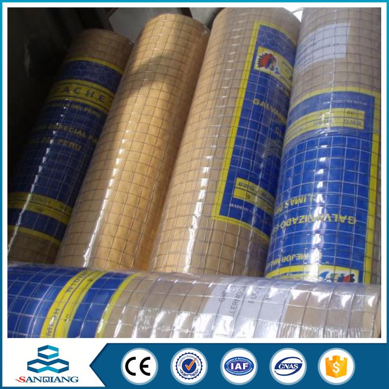 8 gauge galvanized welded wire mesh panel 25mm square mesh