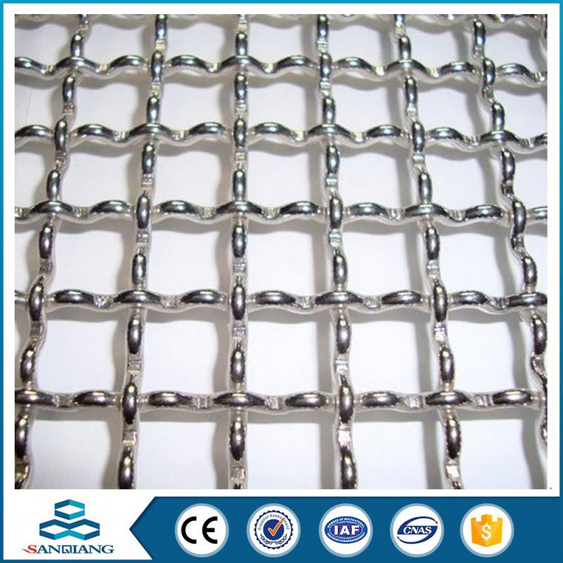 Excellent Quality black wire stainless steel crimped wire mesh screen