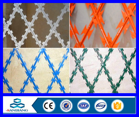 PVC coated/ powered coated airport razor barbed wire
