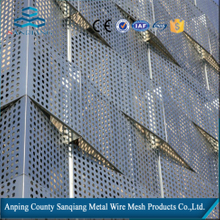hole punching mesh/perforated sheet steel/used for facade curtain wall/sunscreen/buildingwith appropriate price(anping sanqiang)