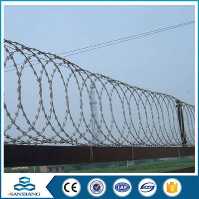 galvanised high tensile steel barbed wire making machine for prison