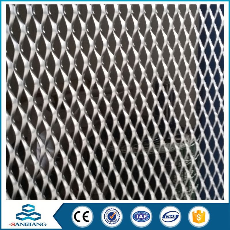 Fashionable black powder coated copper expanded metal mesh