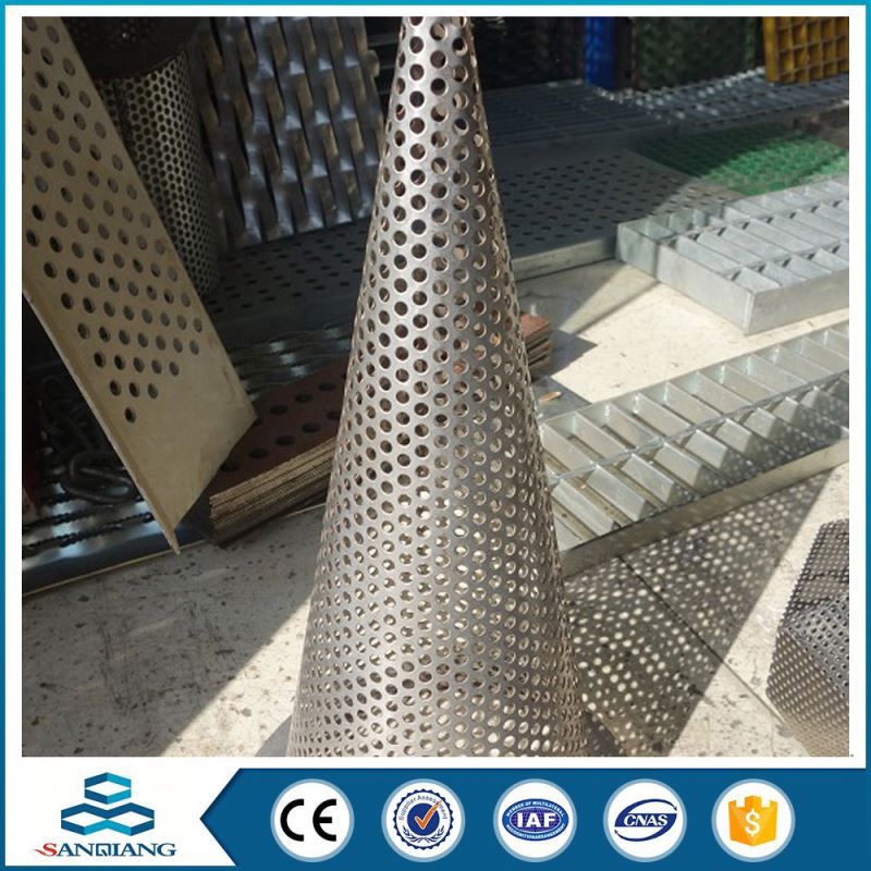 different type plastic round hole perforated metal sheet mesh used metal stairs