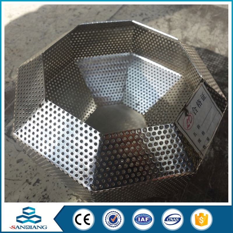 custom stainless steel stair railing perforated metal mesh shade\t
